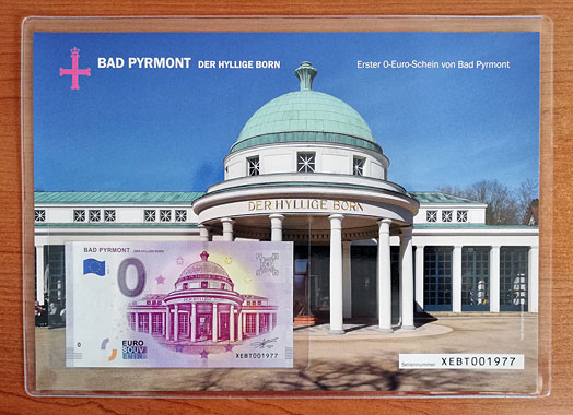 Geschenkblatt 0 Euro Bad Pyrmont