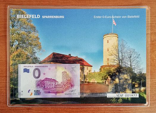 Geschenkblatt 0 Euro Bielefeld Sparrenburg