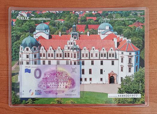 Geschenkblatt Celle Herzogschloss
