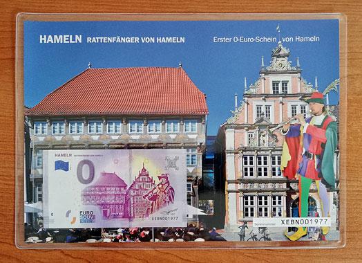 Geschenkblatt 0 Euro Hameln