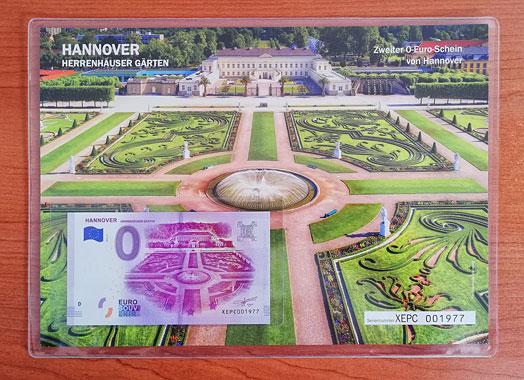 Geschenkblatt 0 Euro Hannover Herrenhäuser Gärten