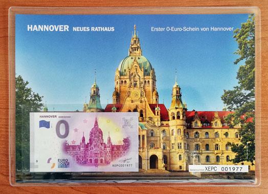 Geschenkblatt 0 Euro Hannover Neues Rathaus