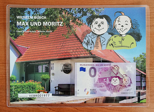 Geschenkblatt Max und Moritz