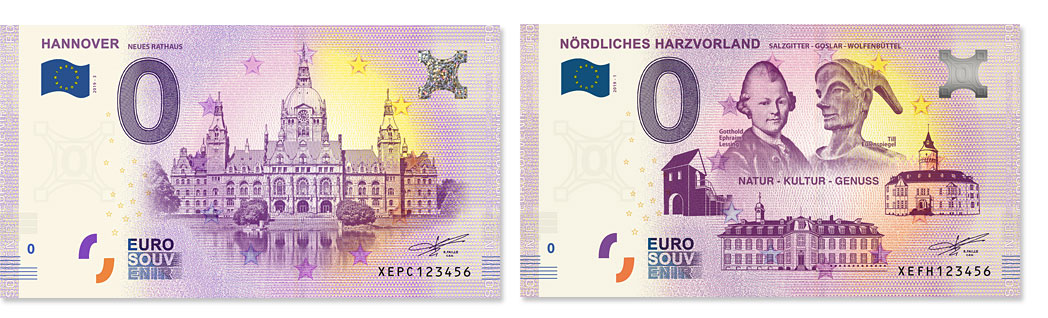 0 Euro Schein Hannover Noerdliches Harzvorland