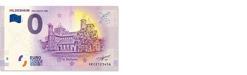 Hildesheim 0-Euro-Schein Weltkulturerbe St. Michaelis